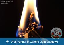 Won Winner in Candle Light Shadows Photo Challenge